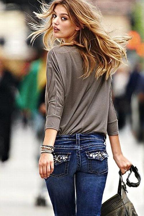 Nên chọn quần Jean nhiều túi nếu muốn che đi khuyết điểm mông chảy xệ