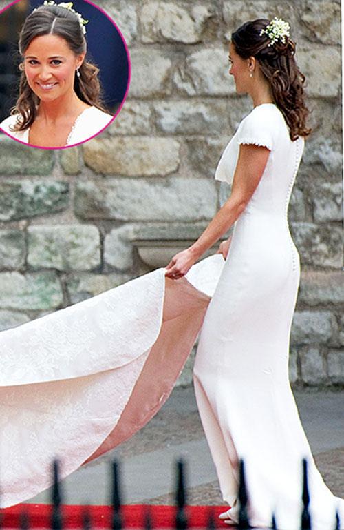 Vòng 3 to đẹp của Pippa Middleton gây ấn tượng mạnh trong lễ cưới của chị gái