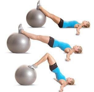 Cách tập gym cho mông to ra với quả bóng