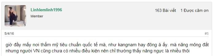 Review ý kiến khách hàng về dịch vụ tại BVTM Kangnam