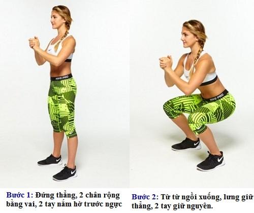 Chi tiết cách squat mông tại nhà