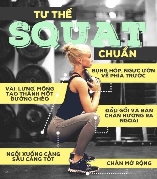 Tư thế của các bài tập squat chuẩn nhất