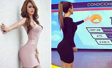 Sở hữu vòng 3 gợi cảm như nữ MC dẫn chương trình dự báo thời tiết người Mexico1